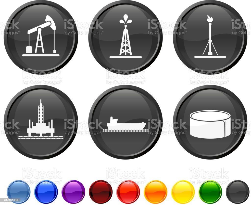 oil industry resources royalty free vector icon set royalty-free stock vector art