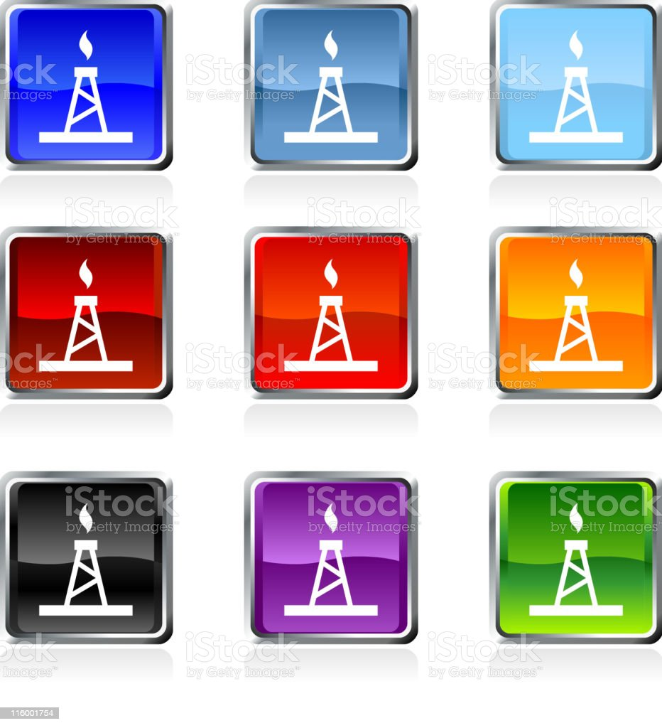 Oil industry royalty free vector art in nine colors vector art illustration