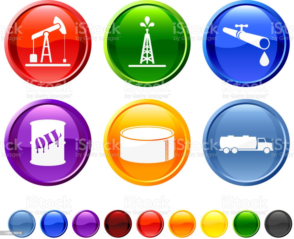 oil industry royalty free vector icon set vector art illustration