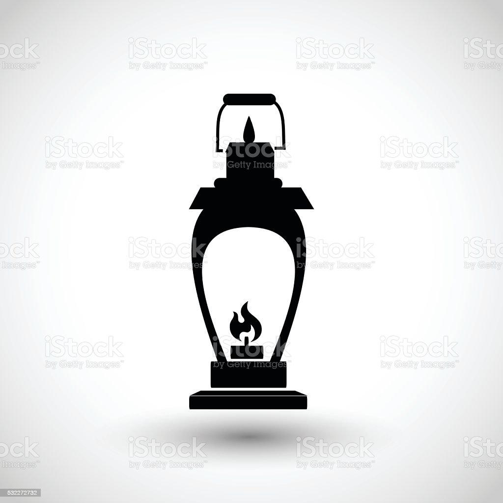 Oil lamp icon vector illustration vector art illustration