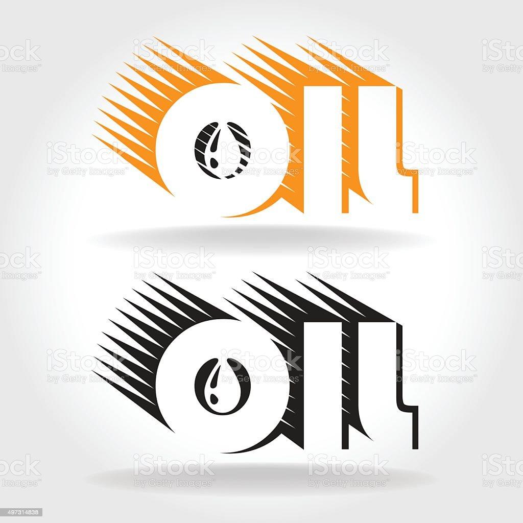 oil logo template vector art illustration