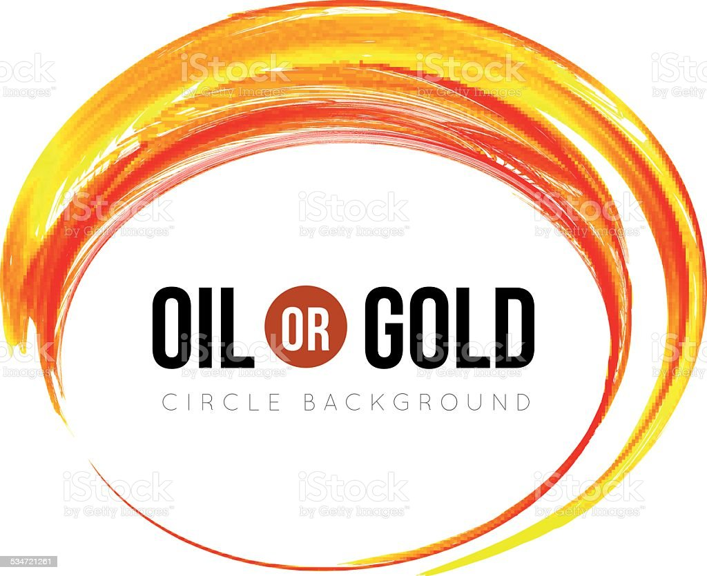Oil or gold vector art illustration
