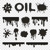 Oil or petroleum splat collection