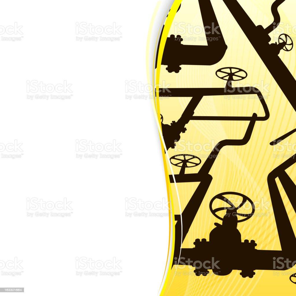 Oil Pipelines banner royalty-free stock vector art