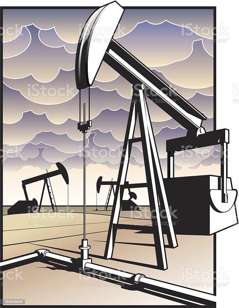 Oil Power royalty-free stock vector art