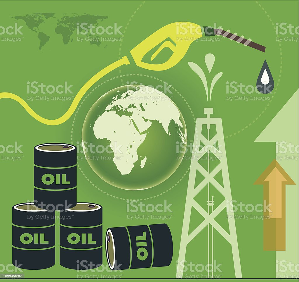 Oil Production and World royalty-free stock vector art