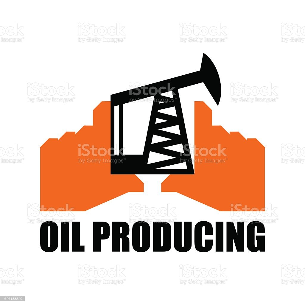 oil production logo petroleum industry sign logo for