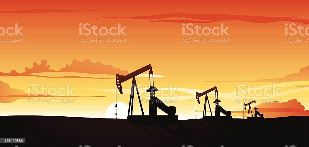 Oil production royalty-free stock vector art