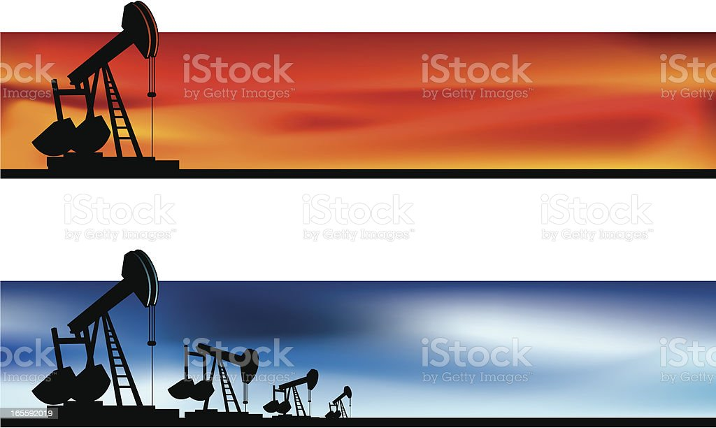 oil pump banner royalty-free stock vector art