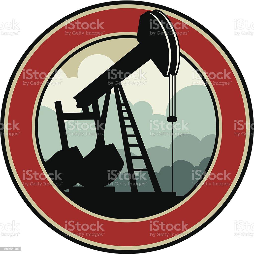 oil pump emblem royalty-free stock vector art