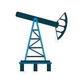 Oil pump flat icon