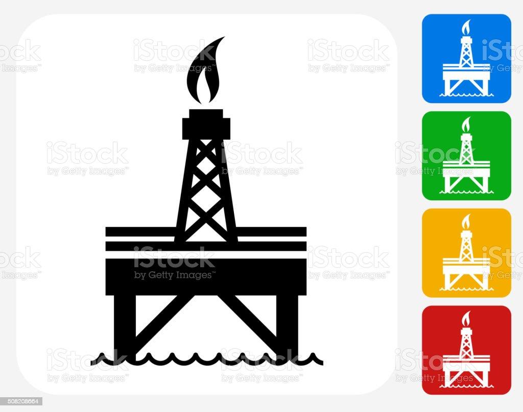 Oil Pump Icon Flat Graphic Design vector art illustration