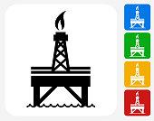 Oil Pump Icon Flat Graphic Design