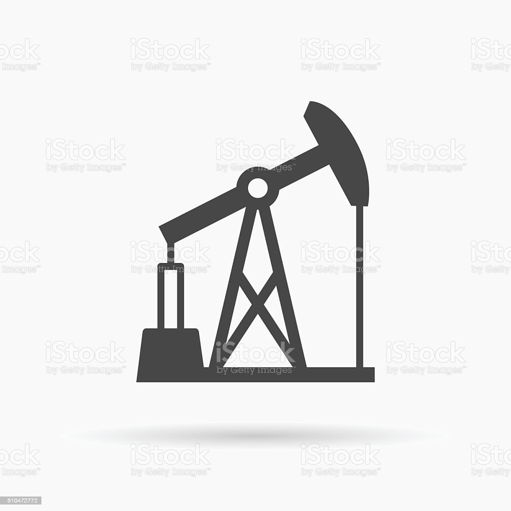 Oil pump icon. Oil pump symbol. Vector illustration. vector art illustration