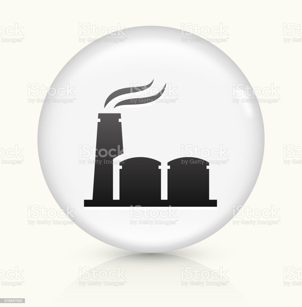 Oil Pump icon on white round vector button vector art illustration