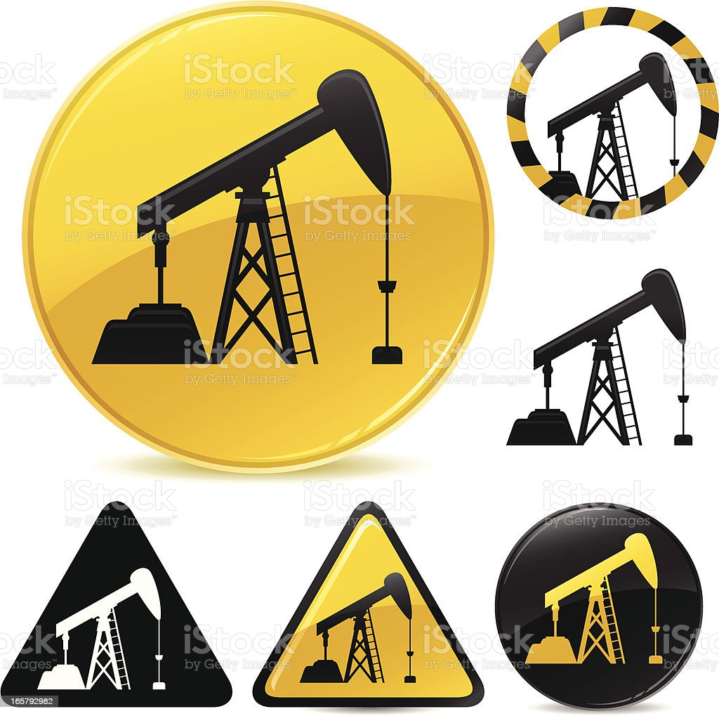 Oil Pump Icon royalty-free stock vector art