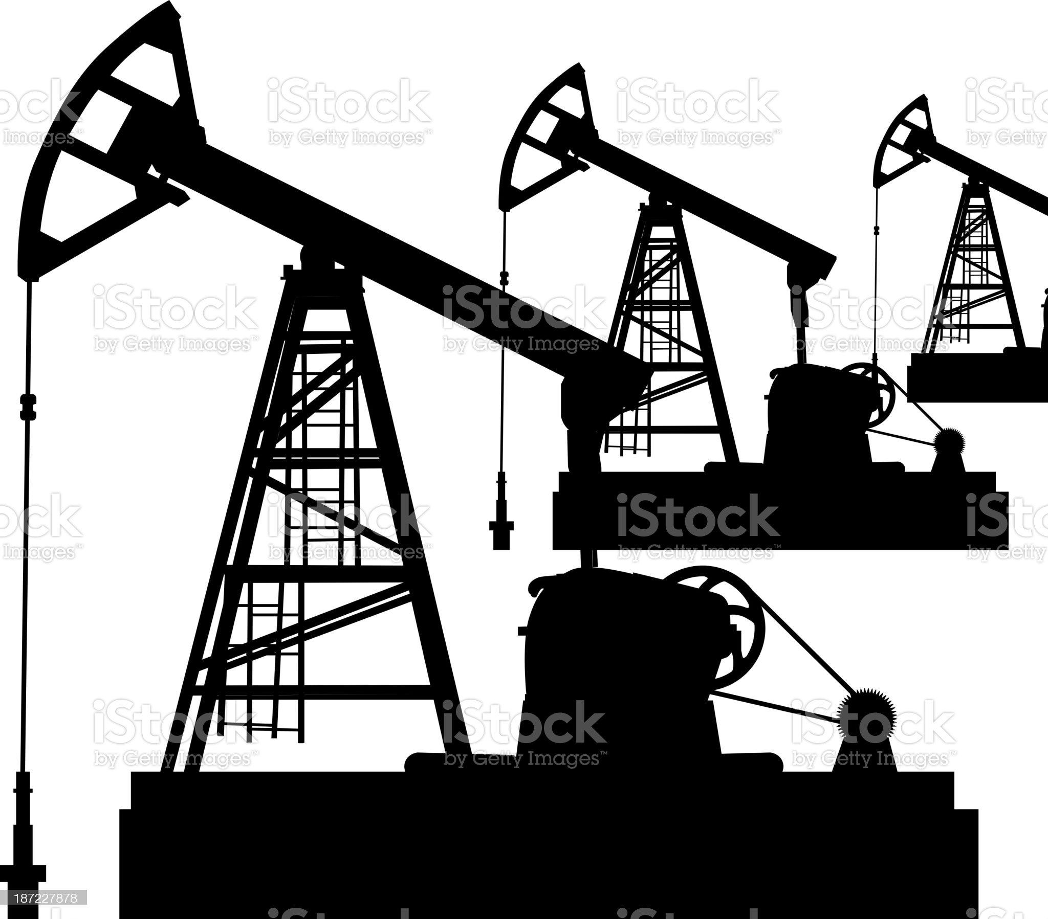 Oil pump jack royalty-free stock vector art