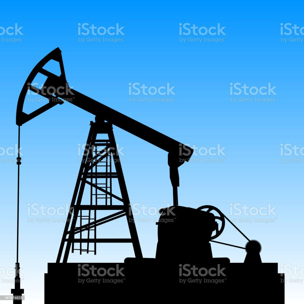 Oil pump jack royalty-free stock vector art