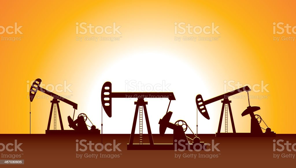 Oil Pump royalty-free stock vector art