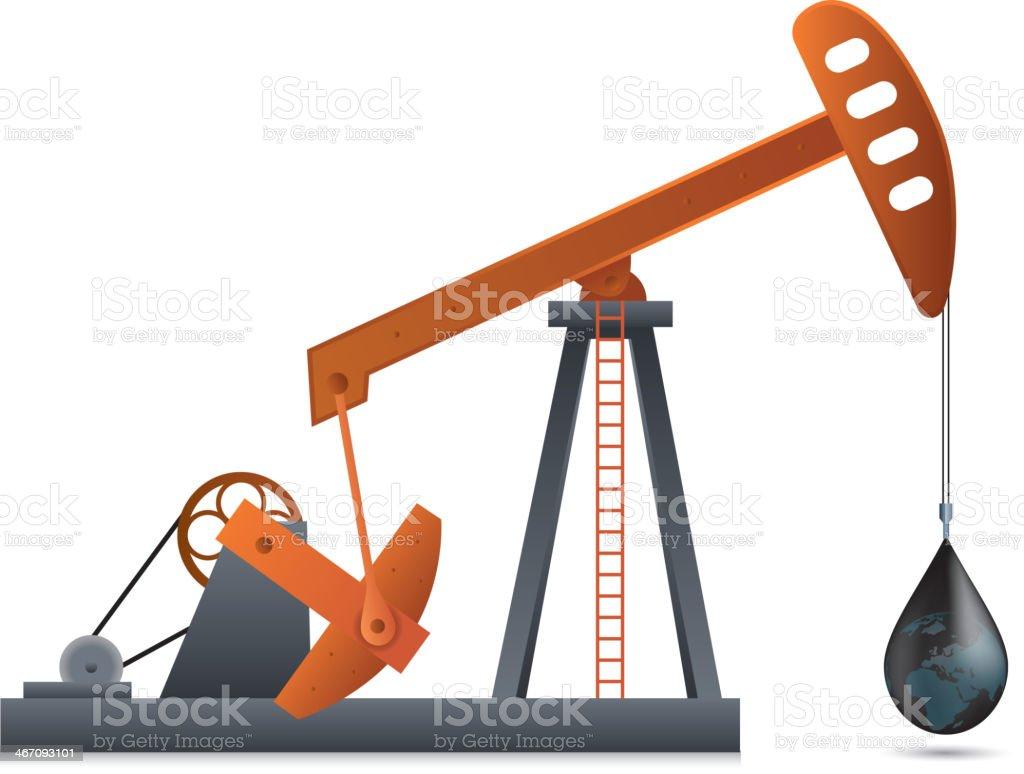 Oil Pump royalty-free stock vector art