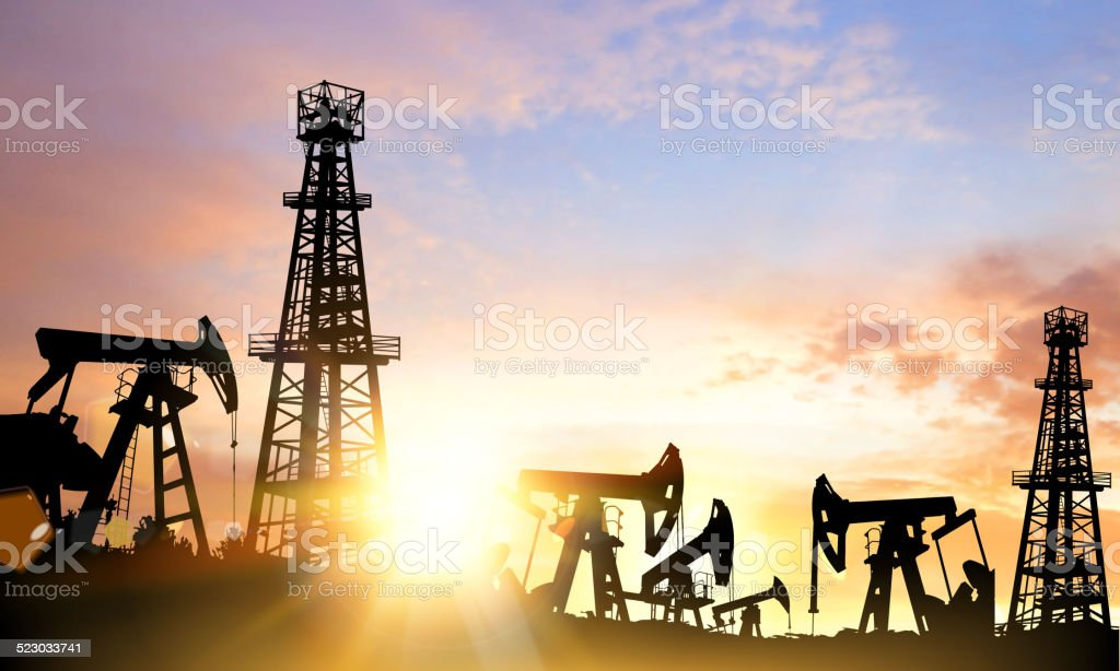 Oil pump. vector art illustration