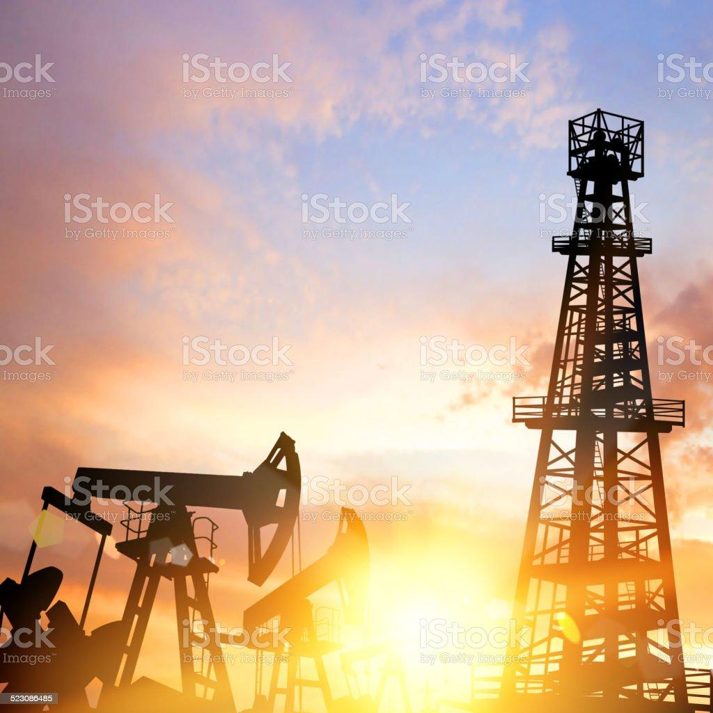 Oil pump. vector art illustration