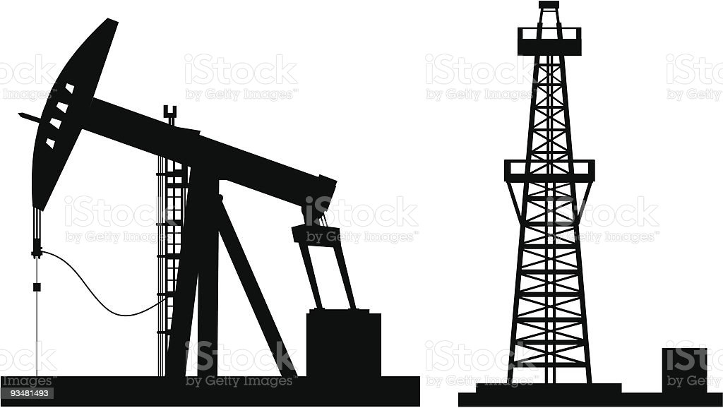 Oil pump vector art illustration