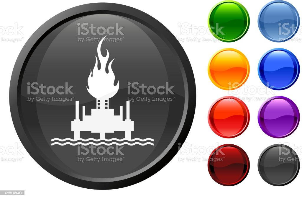 oil rig fire royalty free vector art royalty-free stock vector art