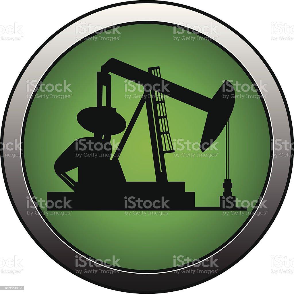 Oil Rig Insignia vector art illustration