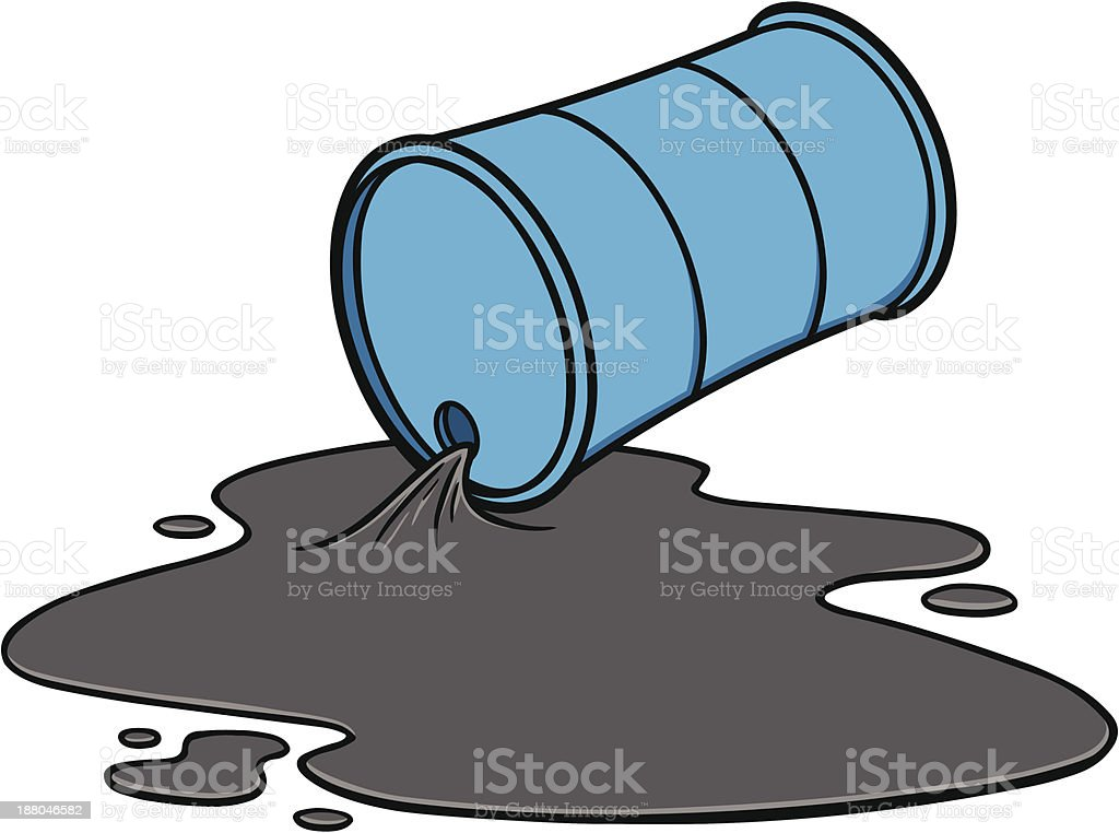 Oil Spill royalty-free stock vector art