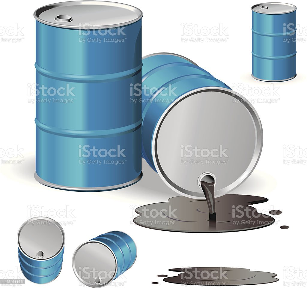 Oil Spill vector art illustration