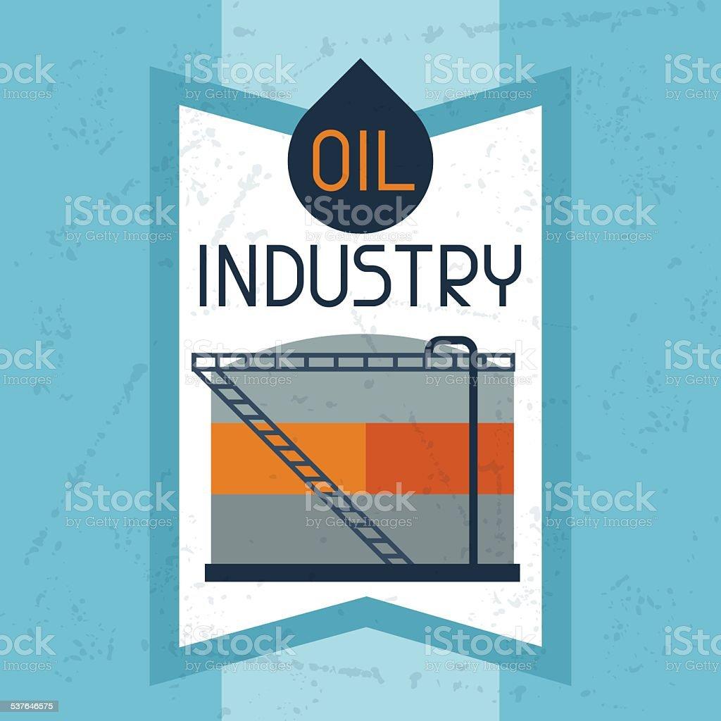 Oil storage tank background vector art illustration