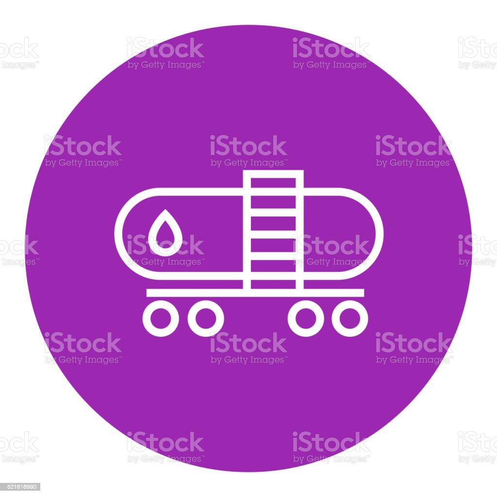 Oil tank line icon vector art illustration