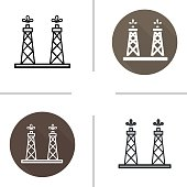 Oil tower icons