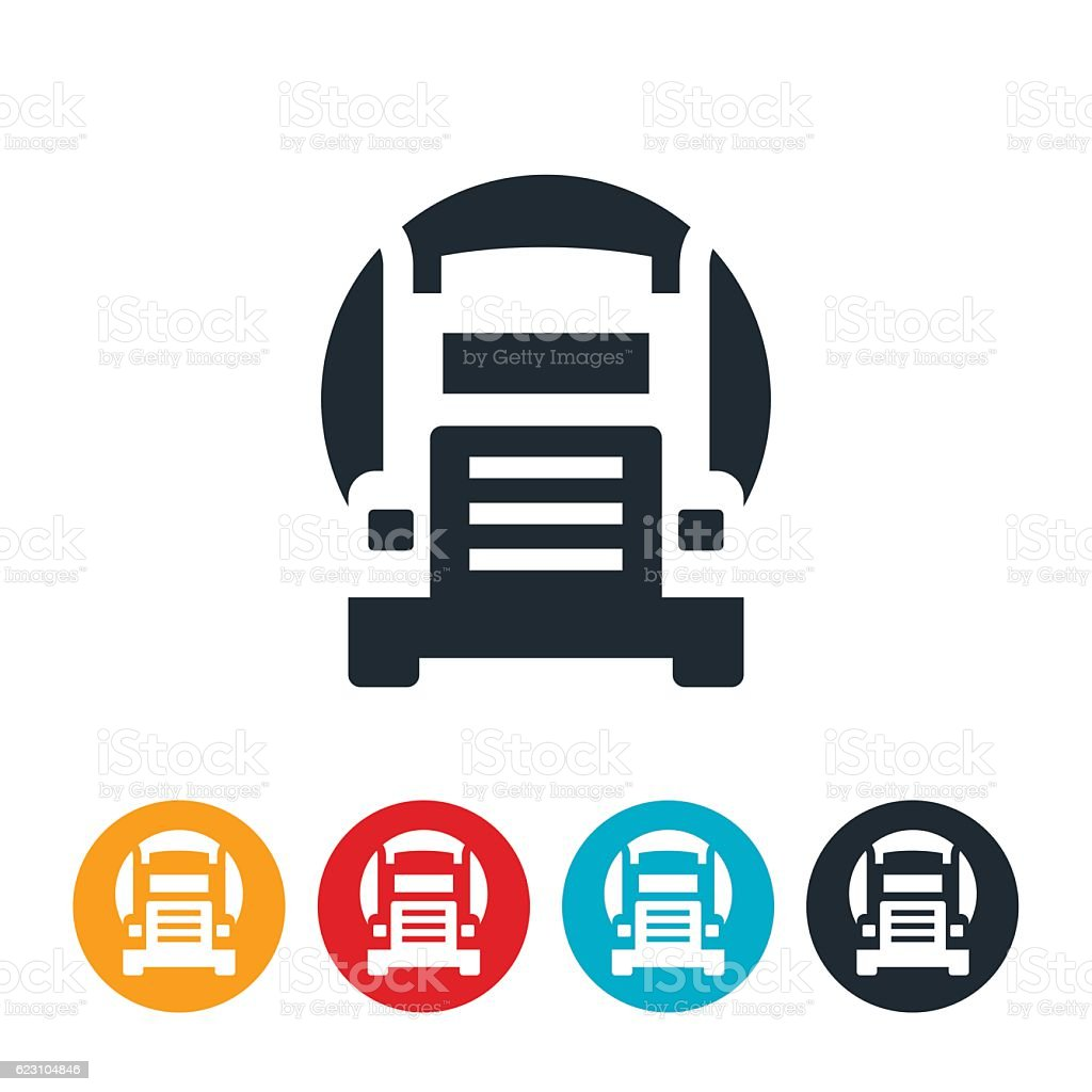 Oil Truck Icon vector art illustration
