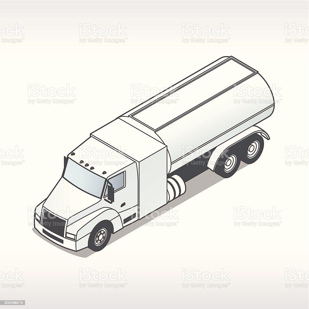 Oil Truck Illustration vector art illustration