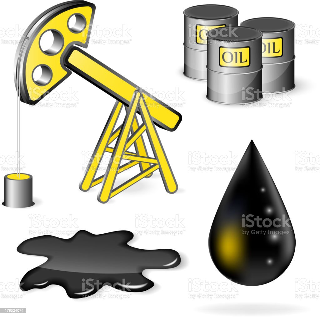 Oil vector icon set royalty-free stock vector art