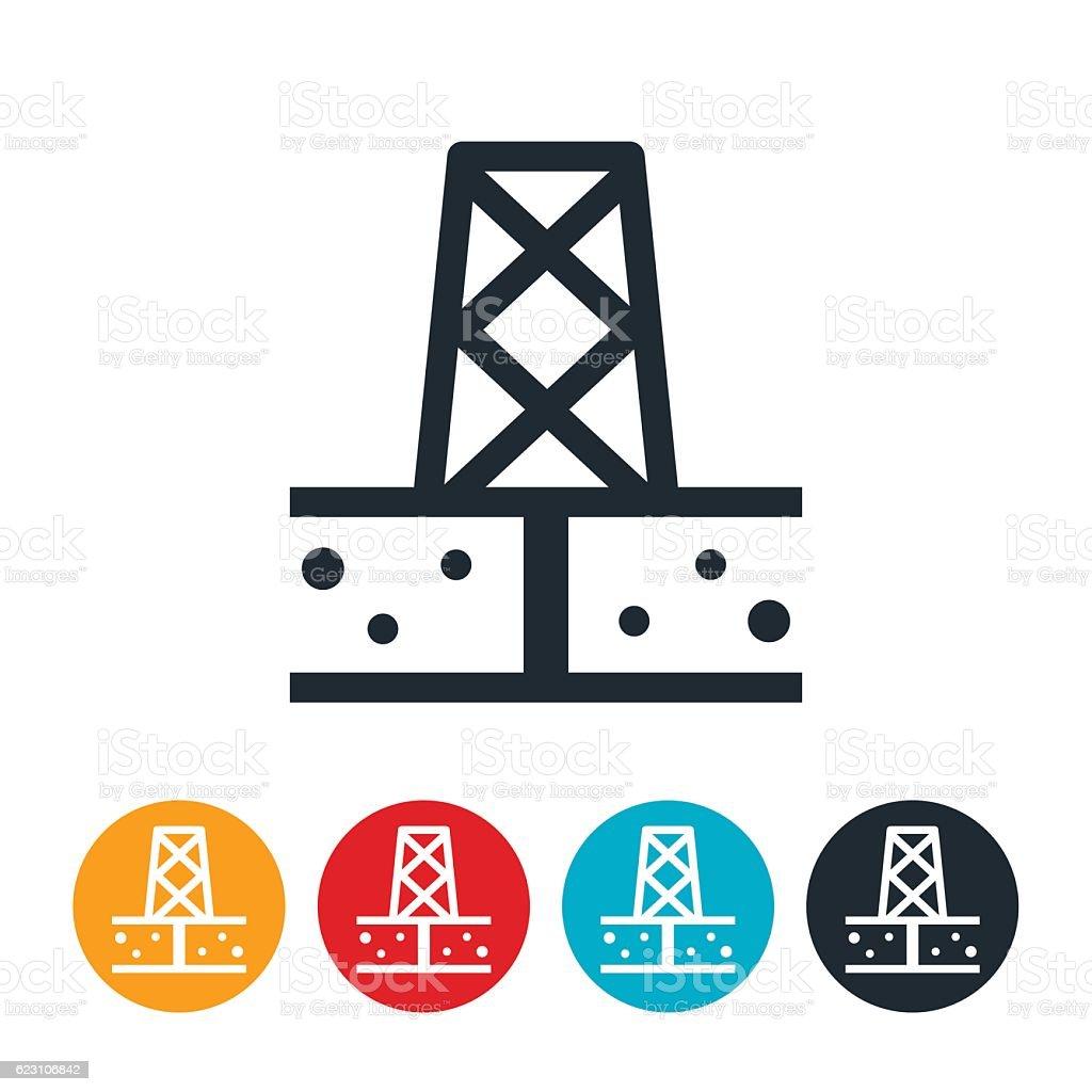 Oil Well Icon vector art illustration