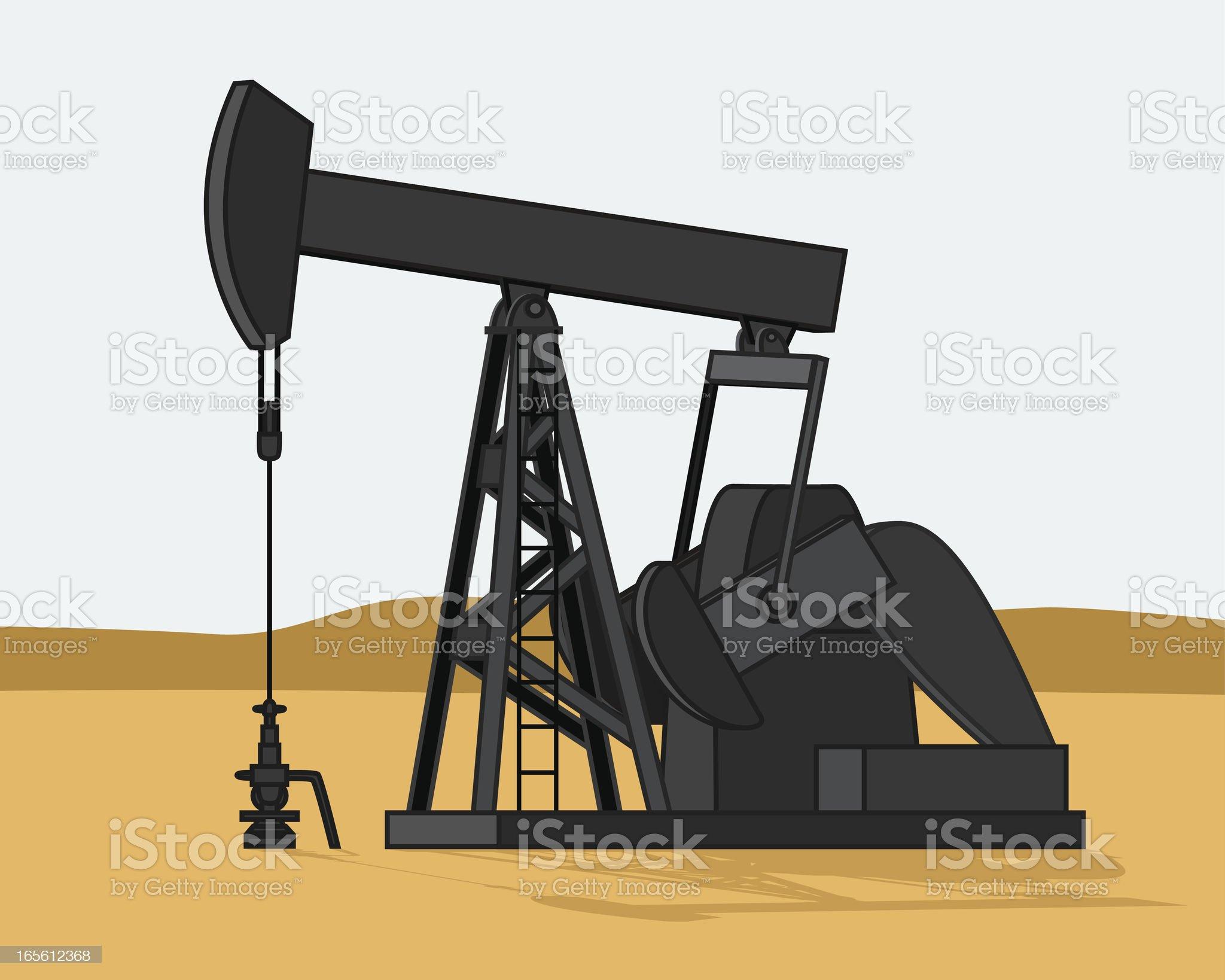 Oil Well Pumpjack royalty-free stock vector art