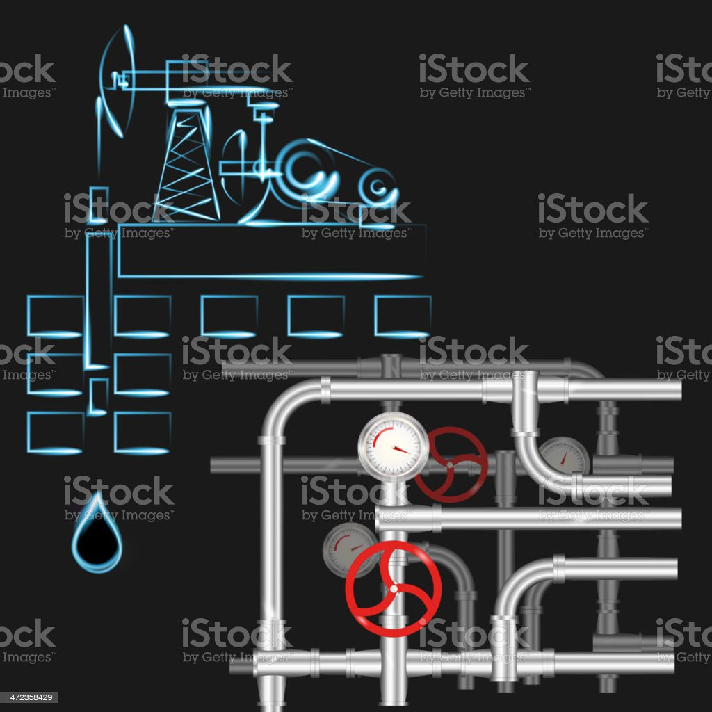 oil well royalty-free stock vector art