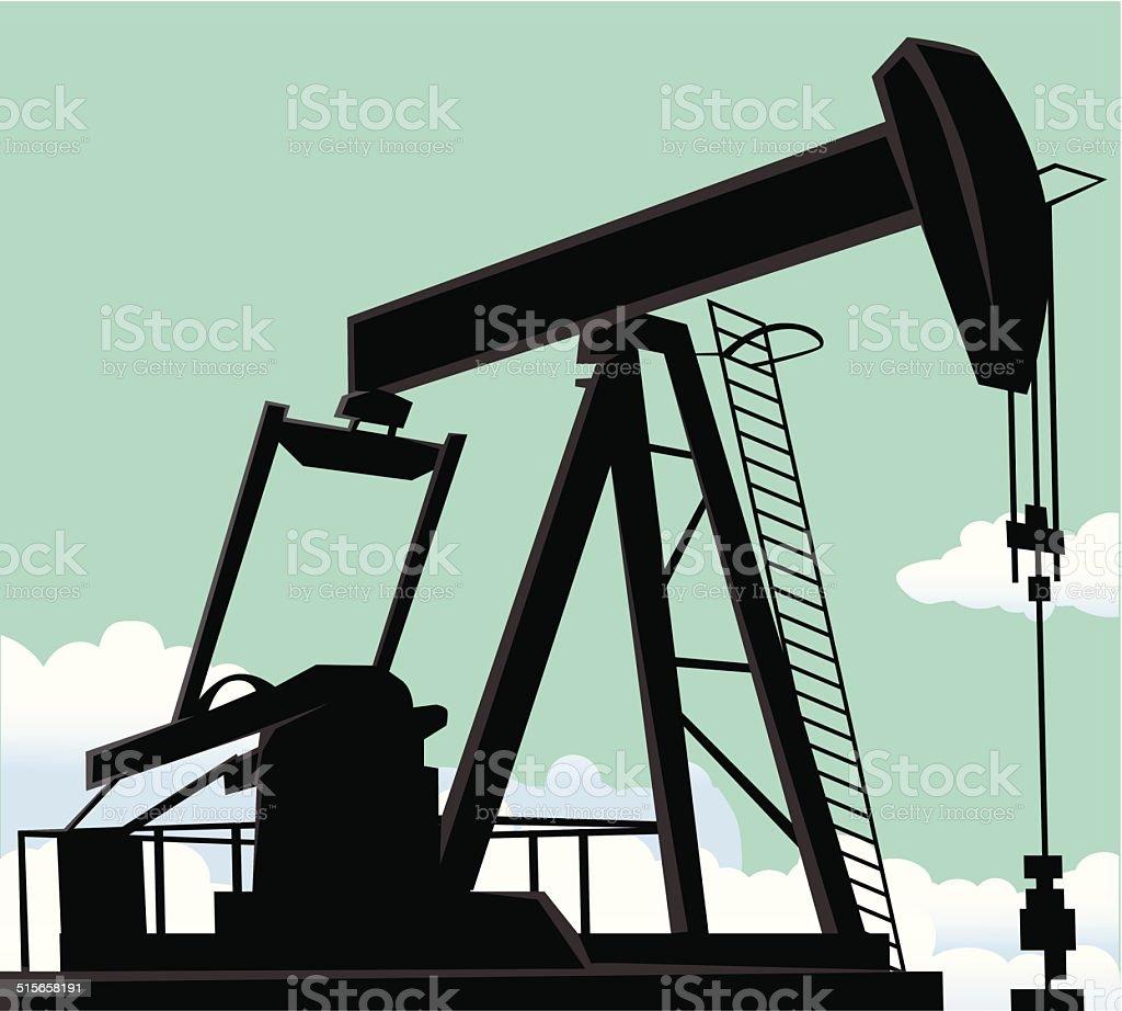 Puits de pétrole stock vecteur libres de droits libre de droits
