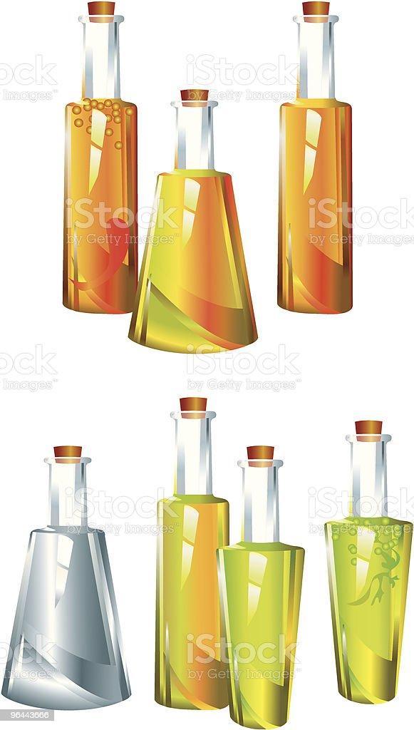 oil_vinegar vector art illustration