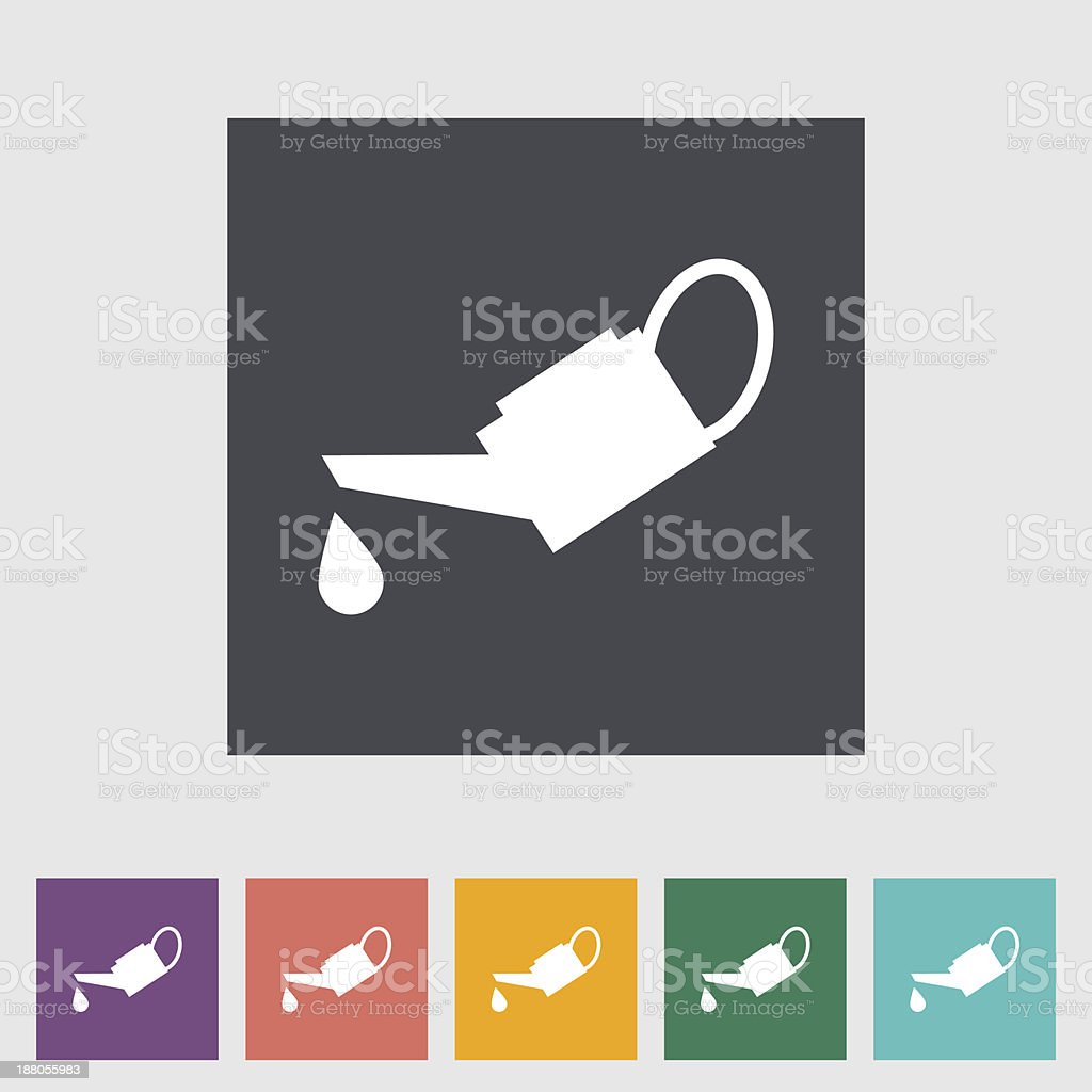 Oiler single flat icon. vector art illustration