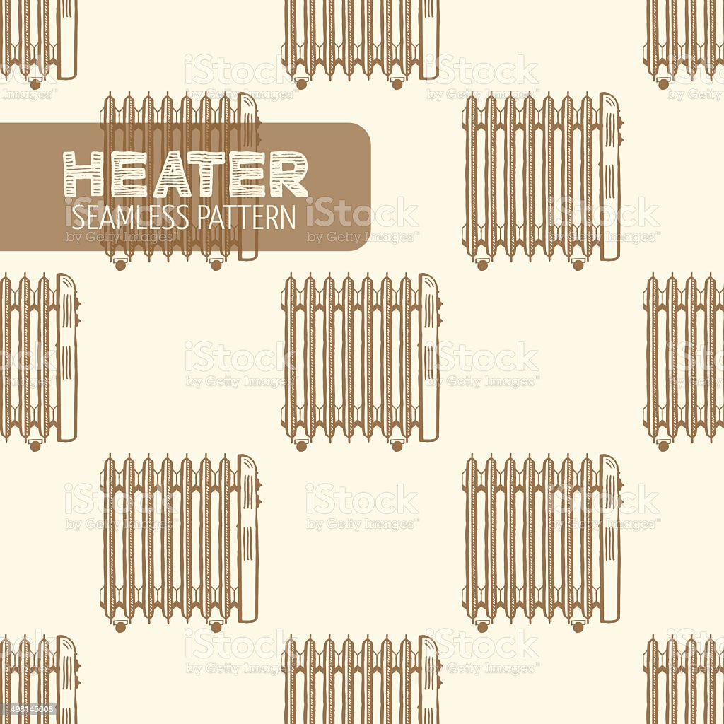 Oil-Filled Electric Heater vector art illustration