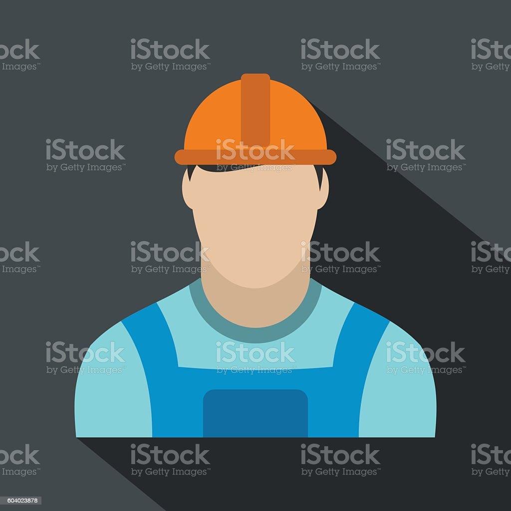 Oilman flat icon vector art illustration