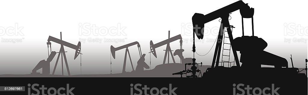 OilPumpField vector art illustration