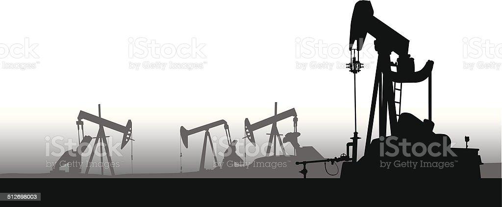 oil-pumps3 vector art illustration