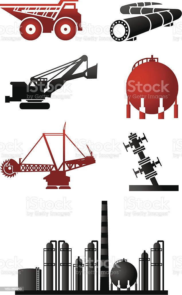 Oilsands Icons Series Two vector art illustration