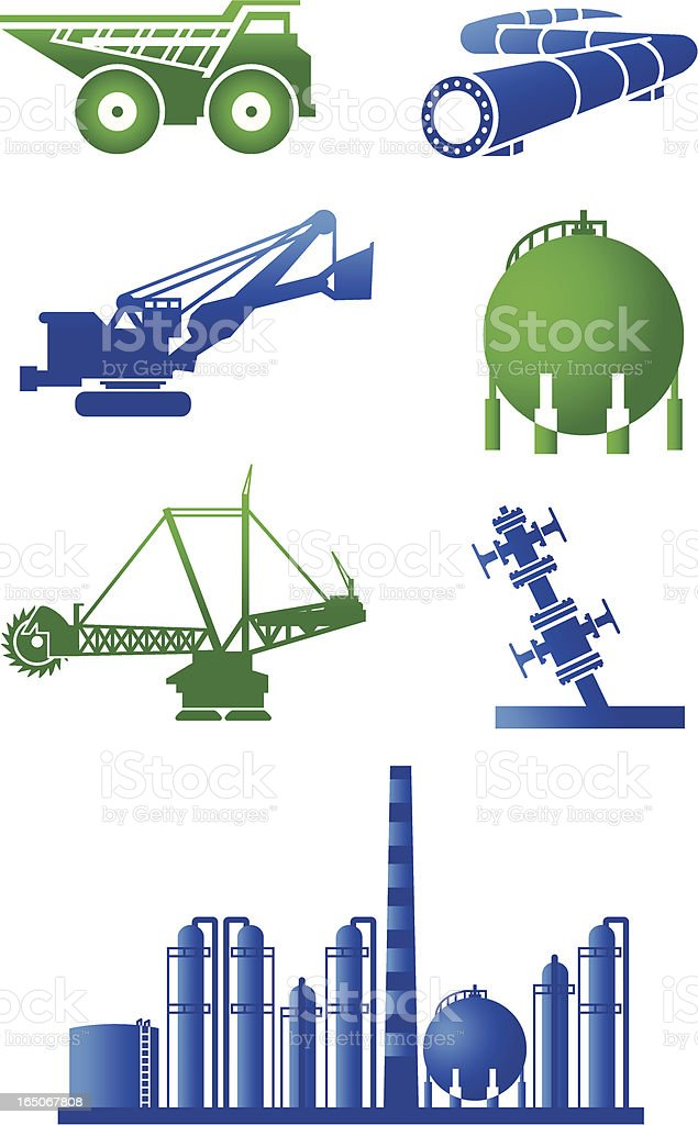 Oilsands Icons royalty-free stock vector art
