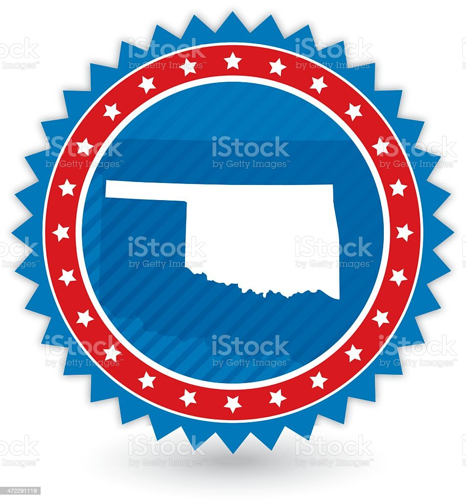 Oklahoma Badge vector art illustration